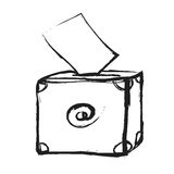Doodle mail box icon Royalty Free Stock Photo