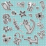 doodle majchery Royalty Ilustracja
