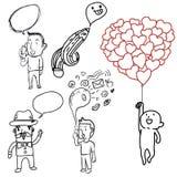 Doodle man Stock Photo