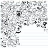 Doodle manchado de tinta del vector de la superestrella de los Doodles del garabato Fotos de archivo libres de regalías