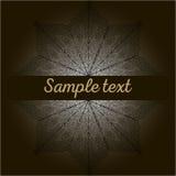 Doodle mandala sample text Stock Images