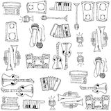 Doodle of many tools music Royalty Free Stock Photo
