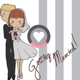 Doodle marriage Royalty Free Stock Photo