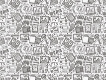 Doodle media background Royalty Free Stock Image