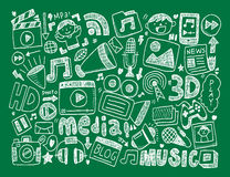 Doodle media background Royalty Free Stock Photos