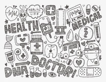 Doodle medical background Royalty Free Stock Photography