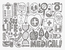 Doodle medical background Royalty Free Stock Images