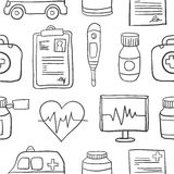 Doodle of medical with hand draw. Vector art Royalty Free Stock Photo