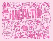 Doodle medyczny tło Zdjęcia Stock
