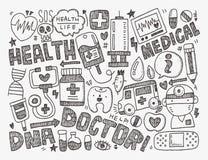 Doodle medyczny tło Fotografia Royalty Free