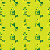 Doodle mexican tequila pattern Stock Photography