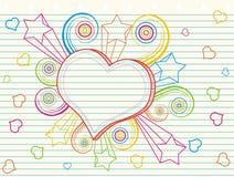 doodle miłość Zdjęcia Stock