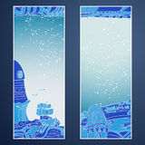 Doodle mistic banners (place for your text) Royalty Free Stock Photos