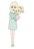 Doodle mom and baby Stock Images