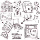 Doodle money icons Stock Image