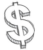 Doodle of money sign Stock Photography