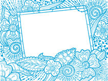 Doodle monochrome frame Royalty Free Stock Image
