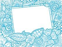 Doodle monochrome frame Royalty Free Stock Image