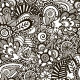 Doodle monochrome print.  Seamless background. Stock Images