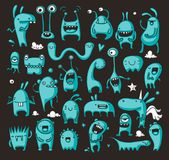 Doodle monster collection Stock Photo