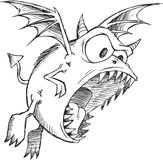 Doodle Monster Demon Vector Royalty Free Stock Photography
