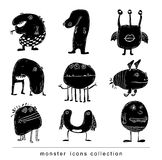 Doodle monster icon, vector illustration. Stock Images
