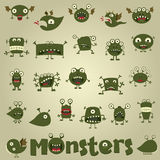 Doodle monster set Royalty Free Stock Image