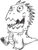 Doodle Monster Vector Royalty Free Stock Image