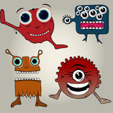 Doodle monsters Royalty Free Stock Photography