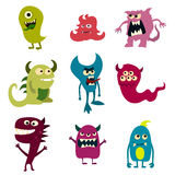 Doodle monsters set. Colorful toy cute alien monster. Vector Royalty Free Stock Photo