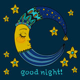 Doodle Moon for children design Royalty Free Stock Photos