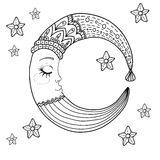 Doodle Moon for children design Royalty Free Stock Photography