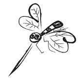 Doodle mosquito, icon illustration Stock Images