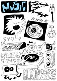 Doodle music Stock Photo