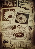 Doodle music background Royalty Free Stock Images