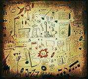 Doodle music background Royalty Free Stock Photo