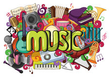 Doodle on Music concept Royalty Free Stock Images