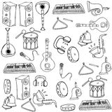 Doodle of music element Royalty Free Stock Photography