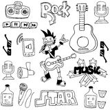 Doodle of music with hand draw Stock Photos