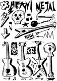 Doodle music, heavy metal Stock Images