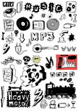 Doodle music heavy metal, rock Royalty Free Stock Photo