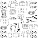 Doodle of music icon hand draw Royalty Free Stock Images