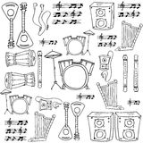 Doodle of music object Royalty Free Stock Photo