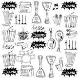Doodle of music pack vector Royalty Free Stock Image