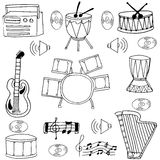 Doodle of music set element Royalty Free Stock Images