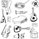 Doodle of music set hand draw Royalty Free Stock Photo