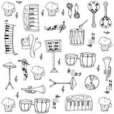 Doodle of music theme stock vector collection Stock Photo