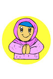 Doodle Muslimah (religious girl) Stock Image