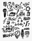 doodle muzyka Ilustracji
