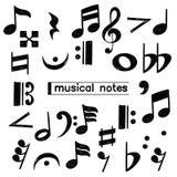 Doodle muzykalnej notatki symbolu nakreślenie ilustracja wektor